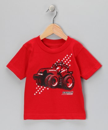 Red Tractor Star Tee - Toddler & Boys