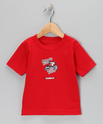 Red 'My Daddy Drives a Red Tractor' Tee - Infant & Toddler