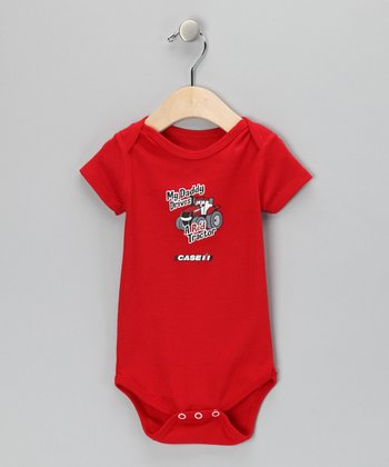 Red 'My Daddy Drives a Red Tractor' Bodysuit - Infant