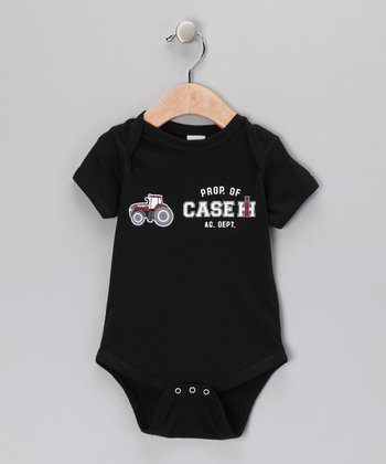 Black 'Property of Case IH' Bodysuit - Infant