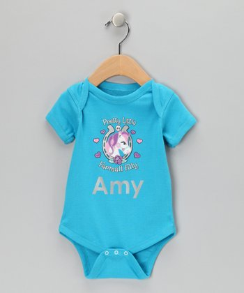 Turquoise Pretty Little Pony Personalized Bodysuit - Infant