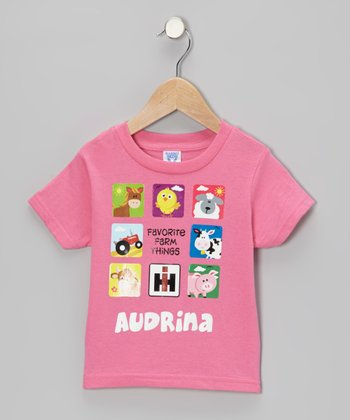 Raspberry Favorite Farm Things Personalized Tee - Infant, Toddler & Girls