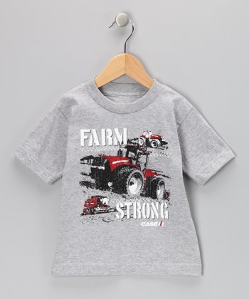 Athletic Heather 'Farm Strong' Tee - Toddler & Boys