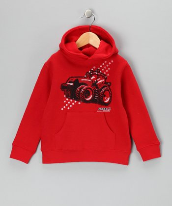 Red Tractor Star Pullover Hoodie - Toddler & Boys