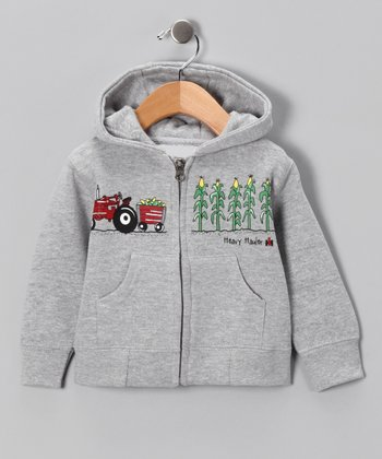 Heather Gray 'Heavy Hauler' Zip-Up Hoodie - Infant