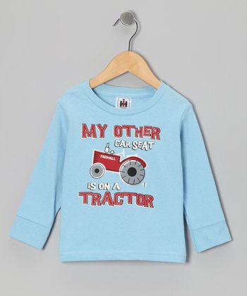 Light Blue 'My Other Car Seat' Tee - Toddler