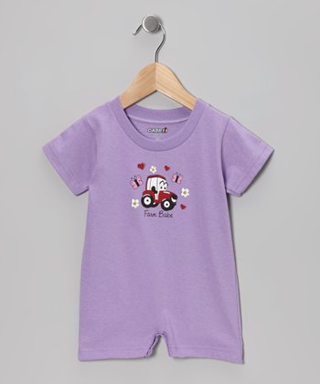 Periwinkle 'Farm Babe' Romper - Infant