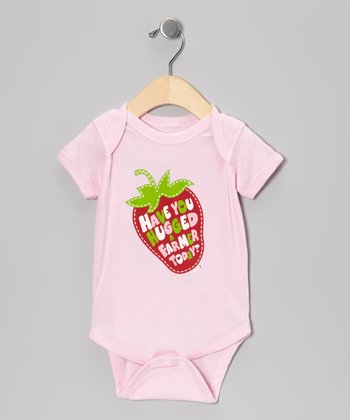 Light Pink 'Have You Hugged a Farmer Today?' Bodysuit - Infant