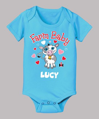 Turquoise 'Farm Baby' Personalized Bodysuit - Infant