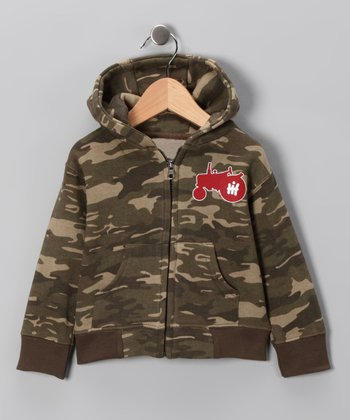 Camo Red Tractor Zip-Up Hoodie - Infant