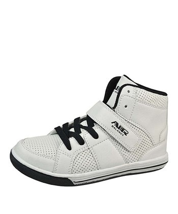 Black & White Strap Hi-Top Sneaker