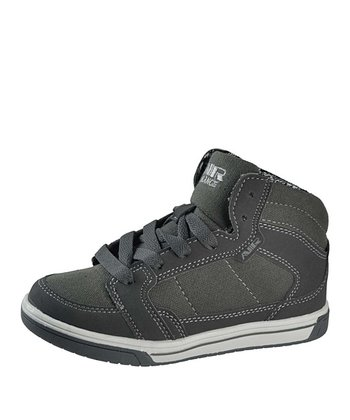 Gray Lace Hi-Top Sneaker