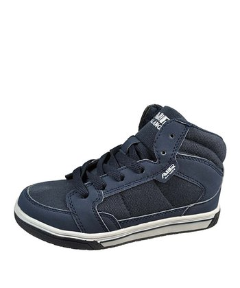 Navy Lace Hi-Top Sneaker