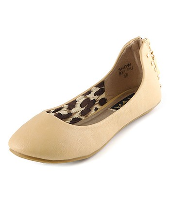 Anna Shoes Beige Show Flat