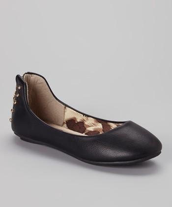 Anna Shoes Black Show Flat