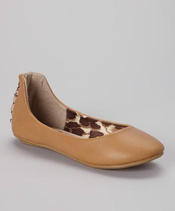 Anna Shoes Tan Show Flat
