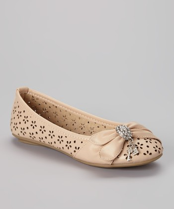 Anna Shoes Beige Vera Flat