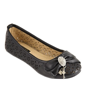Anna Shoes Black Vera Flat