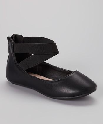 Anna Shoes Black Pam Flat