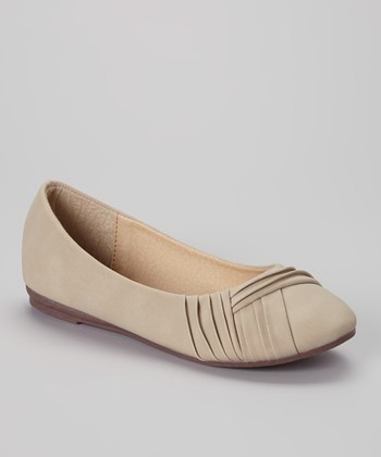 Anna Shoes Beige Chase Flat