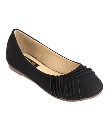 Anna Shoes Black Chase Flat