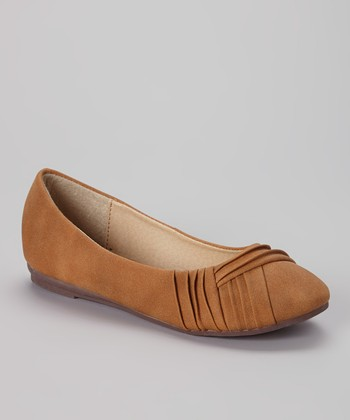Anna Shoes Camel Chase Flat