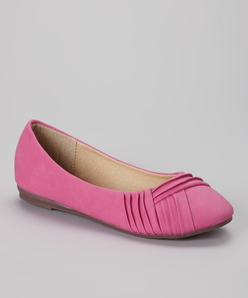 Anna Shoes Fuchsia Chase Flat