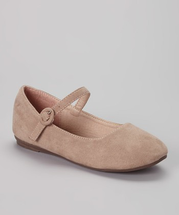 Anna Shoes Taupe Paris Mary Jane