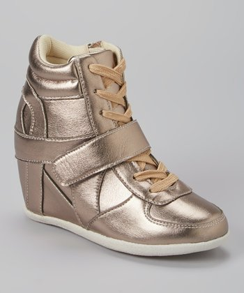 Pewter Metallic Ryker Wedge Sneaker