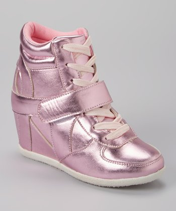 Pink Metallic Ryker Wedge Sneaker