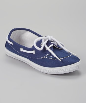 Navy Boaty Boat Shoe