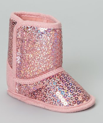 Light Pink Sequin Boot