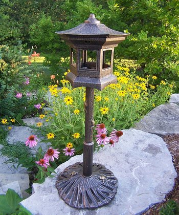 Antique Bronze Lantern Birdhouse
