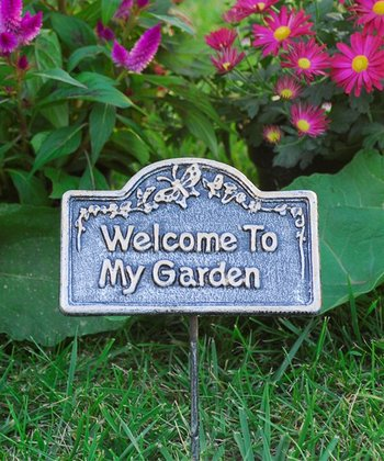 'Welcome to My Garden' Garden Marker