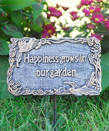 'Happiness Grows in Our Garden' Garden Marker
