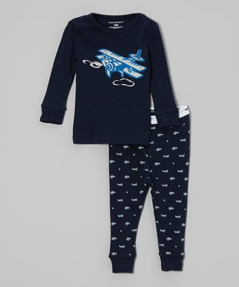 Navy & White Plane Pajama Set - Infant, Toddler & Boys