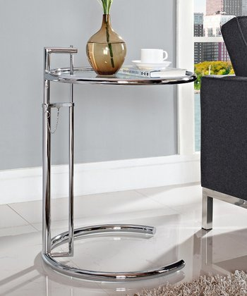 Silver Eileen Gray Side Table