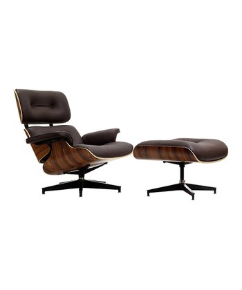 Brown Palisander Eaze Lounge Chair & Ottoman