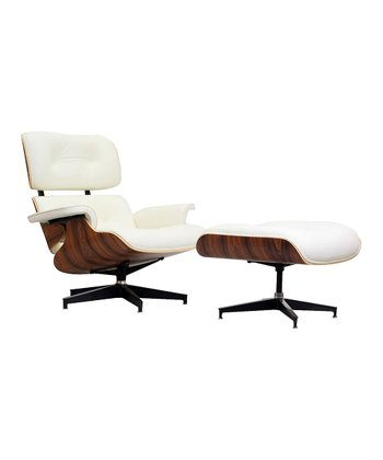 White Palisander Eaze Lounge Chair & Ottoman