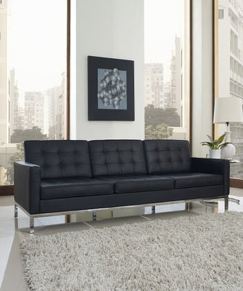 Black Loft Leather Sofa