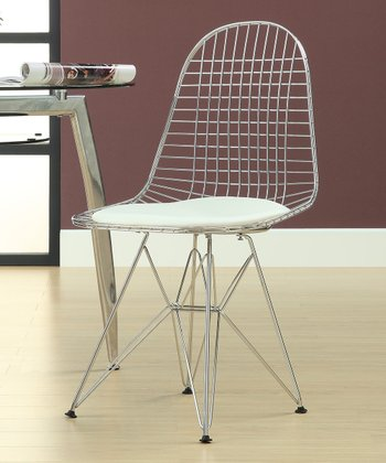 White Wire Tower Side Chair