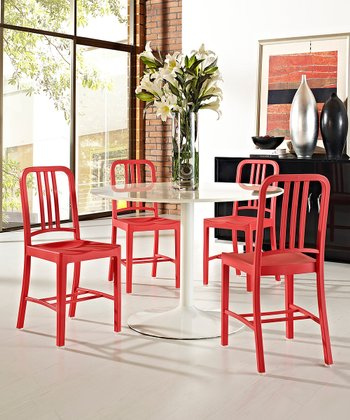Red Navy Dining Side Chair