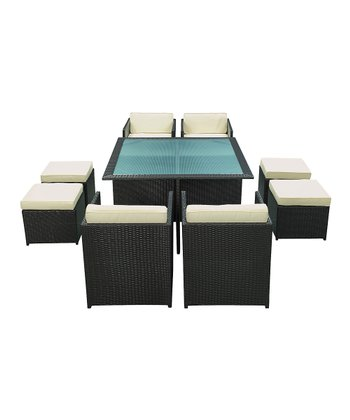 Espresso Inverse Nine-Piece Dining Set