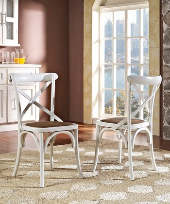 White Gear Dining Chair