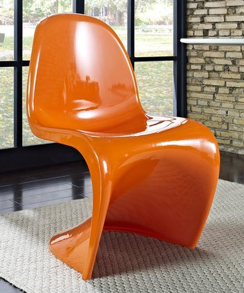 Orange Slither Dining Chair