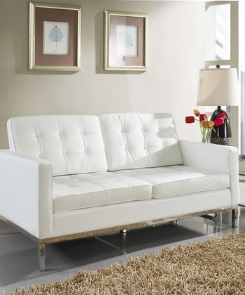Loft Leather Love Seat