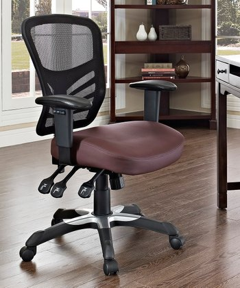 Brown Articulate Office Chair