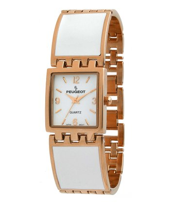 Rose Gold & White Link Watch