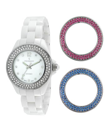 White Crystal Watch & Crystal Bezel Set