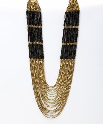 Black & Gold Raja Har Necklace